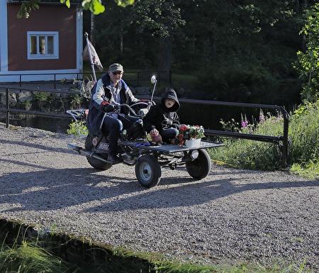 Göran Samuelssons moped fungerade bra.