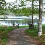 promenadväg runt sjön