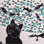 I kattens värld Mosaikrelief hög kvalitet 005