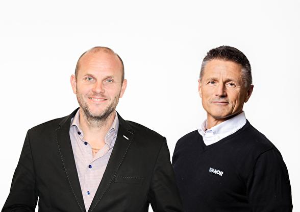 Jimmy Palmqvist, Försäljning- och Marknadschef Greater Than & Wolfgang Sagmeister, Retail- & Marknadschef på Vianor.