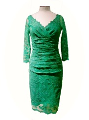 Olvis' Lace Dress | Green  (Please contact boutique to order)