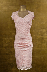 Olvis' Lace Dress | Baby Pink  (Please contact boutique to order)