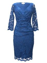 Olvis' Lace Dress | Blue  (Please contact boutique to order)