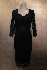 Olvis' Heart Neckline Lace Dress | Black (Please contact boutique to order)