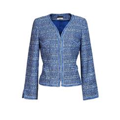 Maruschka de Margò Jacquard Tweed Jacket | Denim Blue