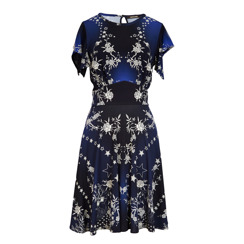 Roberto Cavalli Pretty Thing Floral Dress | Blue