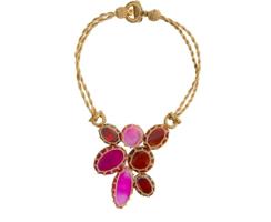 Boks & Baum Mini Lea Pink Necklace