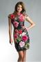 Basix Black Label Flower Embroidered Velvet Dress - EU 42