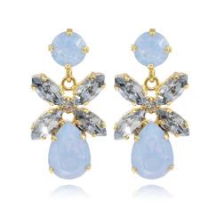 Caroline Svedbom Mini Dione Earrings | Air Blue Opal + Blue Shade & Gold