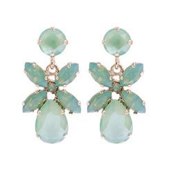 Caroline Svedbom Mini Dione Earrings | Chrysolite + Pacific Opal & Gold