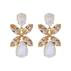 Caroline Svedbom Dione Earrings | Sand Opal + Light Colorado Topaz & Gold