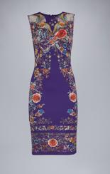 Roberto Cavalli Enchanted Garden Jersey Dress  |  Purple