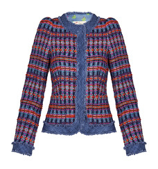 Maison Common Couture Tweed Jacket | purple & red (please contact boutique to order)
