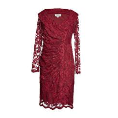 Olvis' Lace Dress | Wine Red