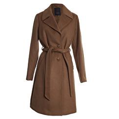 SAKI Sweden Ophelia Classic Wool Coat With Belt | camel