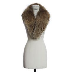 SAKI Sweden Racoon Fur Collar | natural