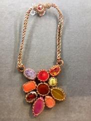 Boks & Baum Mini Lea Red Necklace