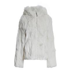Tavus Milano Bomber Jacket With Hood   white