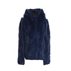 Tavus Milano Bomber Jacket With Hood   indigo blue