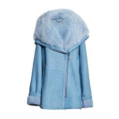 Levinsky Tara Suede Lamb Jacket   light blue