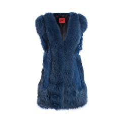 Levinsky Blue Fox Vest   blue