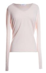 Majestic V Neck Deluxe Cashmere Jumper | pink