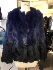 Tavus Milano Degrade Fur Jacket   degrade blue to black