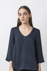 Ahlvar Gallery Emiko Blouse |​ midnight blue
