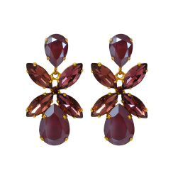 Caroline Svedbom Dione Drop Earrings | dark red