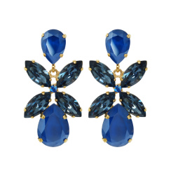 Caroline Svedbom Dione Drop Earrings | royal blue