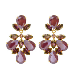 Caroline Svedbom Selene Earrings | dark red