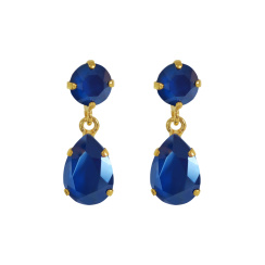 Caroline Svedbom Mini Drop Earrings | royal blue