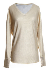 Majestic V Neck Deluxe Sweatshirt | gold