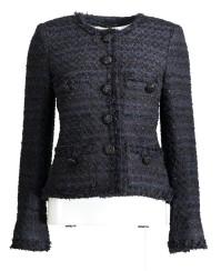Maruschka de Margò Midnight Tweed With Button | Midnight Blue