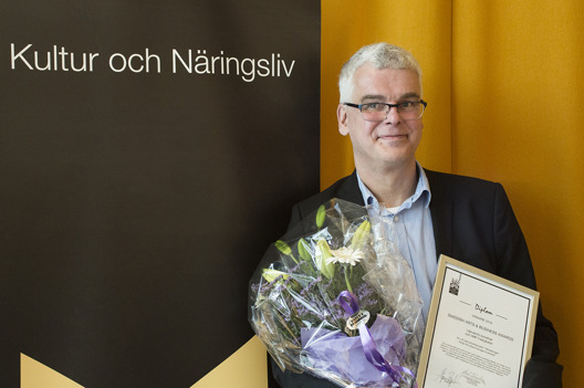 Liljevalchs chef Mårten Castenfors tog emot priset under en prisceremoni på tisdagskvällen. Foto: Tilo Stengel