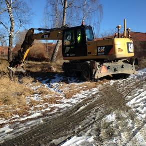Provgropsgrävning för VA-ledning på Centrumtomten, Skoghall