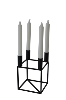 Bella Candle Holder Square L - Svart