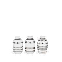 Vas - Omaggio silver, miniatyr 3-pack