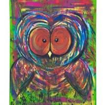Colorful Owl - Gicleétryck