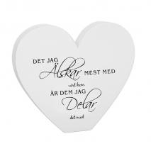 Hjärta med text - Vårt hem