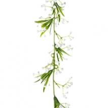 Girlang - vita blommor