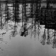 Husarviksgatan - spegling. Foto Cathrine Hedborg. Klicka för större bild