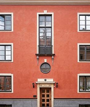 Fasad i Röda Bergen. Foto Sveriges Arkitekter
