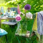 AM Sommar dukning 1 bukett på stol