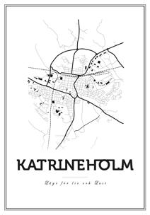 Map Katrineholm - Posterperfect