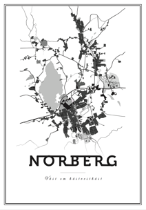 Map Norberg - Posterperfect