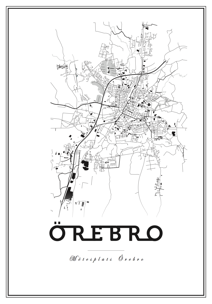Map Örebro - Posterperfect