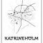 Map Katrineholm 01 - Posterperfect