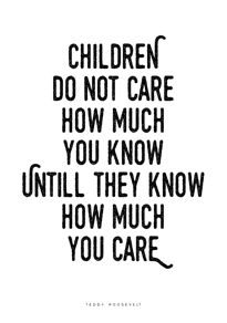 Children do not care - Posterperfect