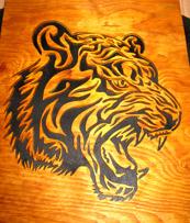 Halländskt hantverk Tiger Svart mot gul botten